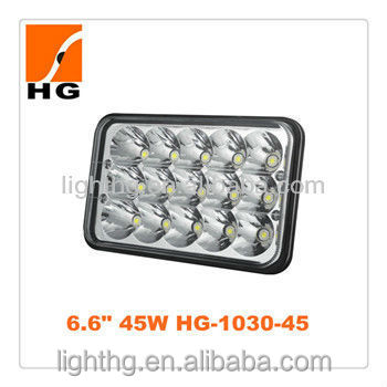 HG-1030 6.6''s Factory Wholesale Rectangle Auto Work Led Light 45W Rectangle Led Driving Light Rectangle Sealed Beam Led Light