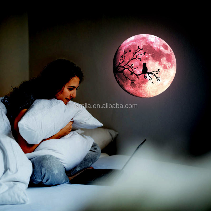 30CM glow fluorescent night luminous wall decal stickers and luminous DIY moon stars cute home cat switch wall sticker