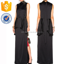 Black Sleeveless High Neckline Summer Evening Formal Maxi Dresses Manufacture Wholesale Fashion Women Apparel (TF0599D)