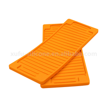 Custom kitchen large silicone rubber sink drying mat for dish