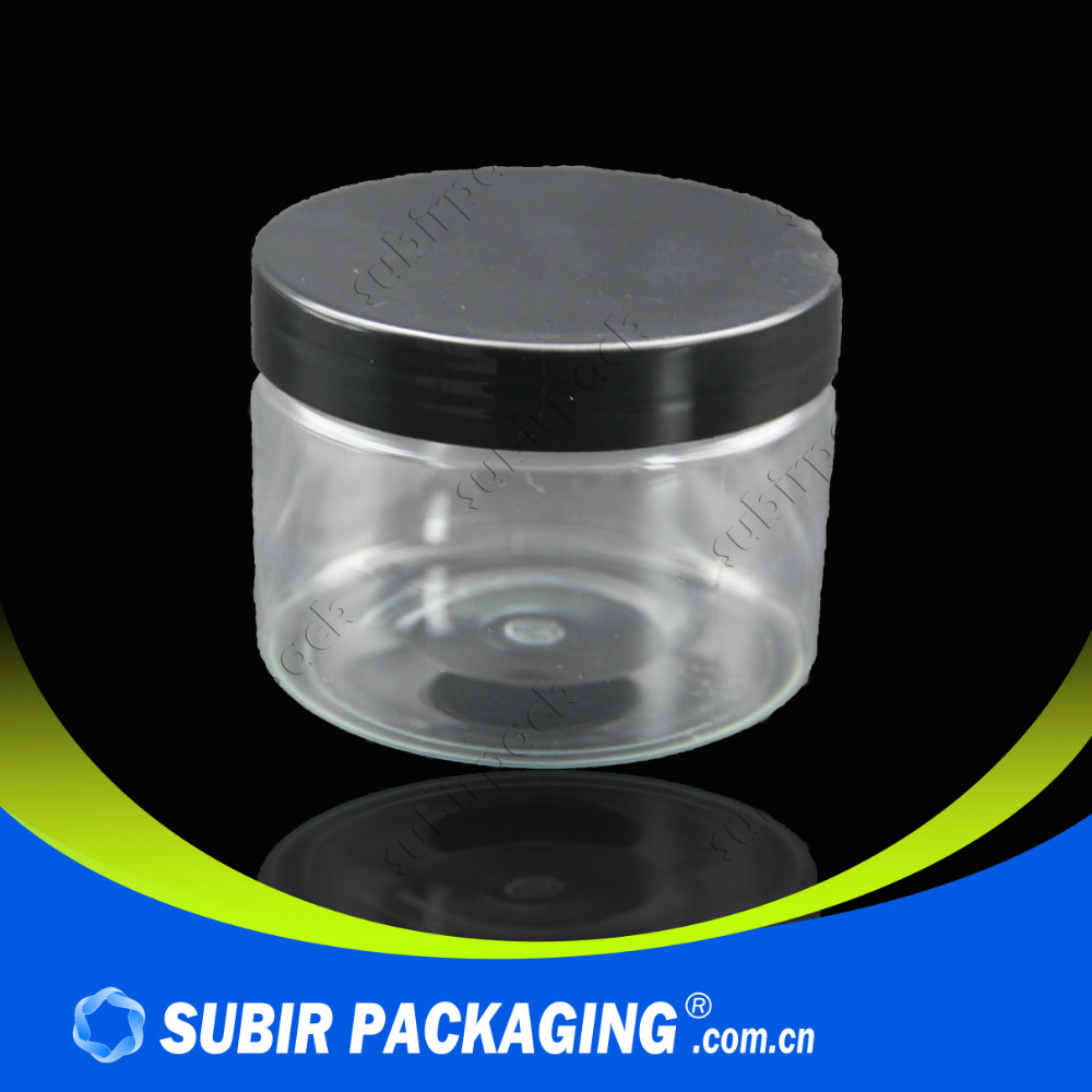 high quality aluminum cap small empty bottle plastic jam jar
