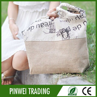 wholesale hight quality natural laminated jute tote bags
