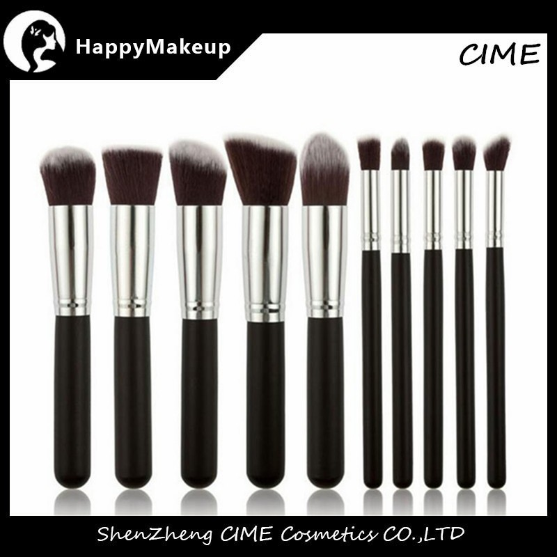 Trade Assurance 10 Piece Premium Synthetic Kabuki Professional Makeup Brushes