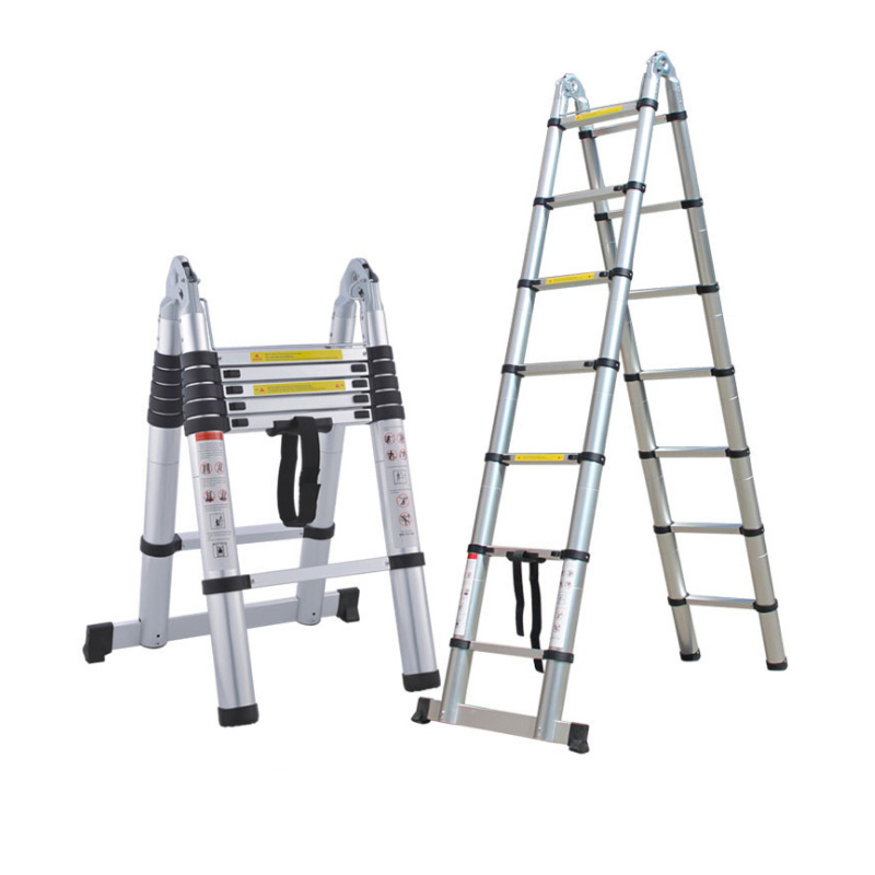 ALUMINUM DOUBLE TELESCOPIC LADDER