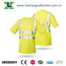 LX708 High Visibility Short Sleeve Reflective Safety Football Running T shirt