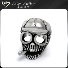 Antique stylish 316l stainless steel skeleton lip ring for men