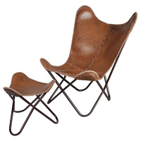 hardoy butterfly chair with stainless steel frame, BKF folding chair metal