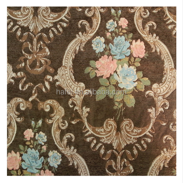 American thick chenille fabric material for sofa set designs price per meter