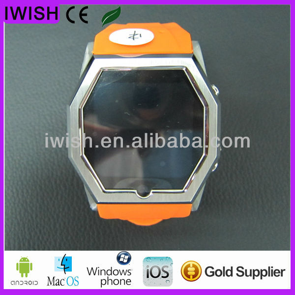 brand new touch screen gsm smart phone watch thin stainless steel shell watch mobile phone,