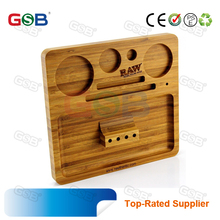 raw bamboo wooden rolling tray Decoration Customize Wood Rolling Tray For tobacco