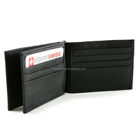 customized men credit card case RFID leather money clip wallet with loose-leaf