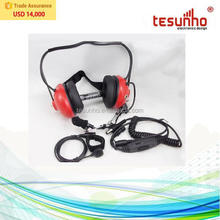 heavy duty racing wire acoustic noise canceling headset for walkie talkie