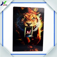 2016 new hot sale 3d animal pictures/lenticular postcard/lenticular Advertising Cards
