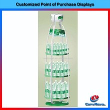 Modern design supermarket metal water bottle display stands