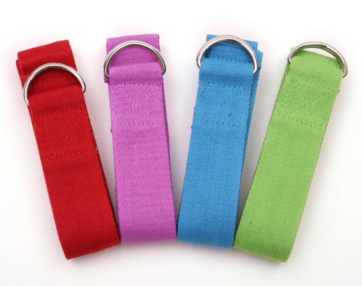 Hot selling high quality portable yoga bands and carring cotton yoga straps