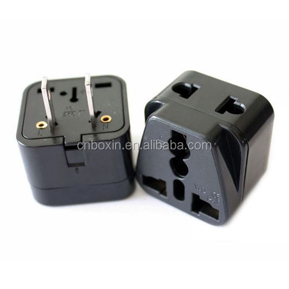 New products Hot Double sockets with plug, Universal to US American Canada Japan Korea plug travel adapter adaptor charger