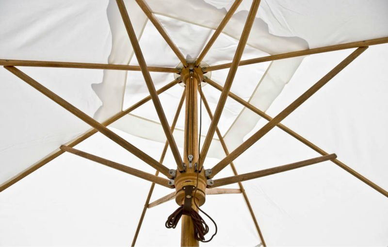 T-Range Wooden Outdoor Umbrella