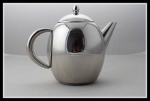 egg shape stainless steel tea pot