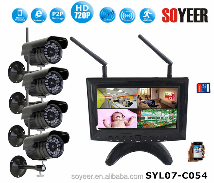 4CH 1080P AHD DVR Support Audio, P2P, CMS and Alarm Full HD CCTV DVR