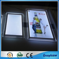Clear acrylic super bright led slim light box a3