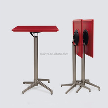 105cm bar use plastic or MDF material square shape top concise high bar table