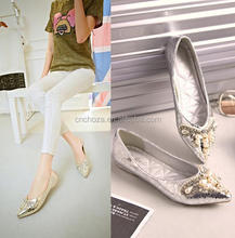 Z55636B latest cheap price for wholesale shiny women flat shoes
