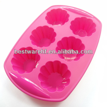 Jello Bread Desserts mold 6 cavity silicone Arts and Crafts of Baking flex nonstick Muffins Cupcakes maker