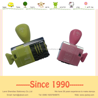 Digital date time stamp machine roller rubber stamp with iron stand