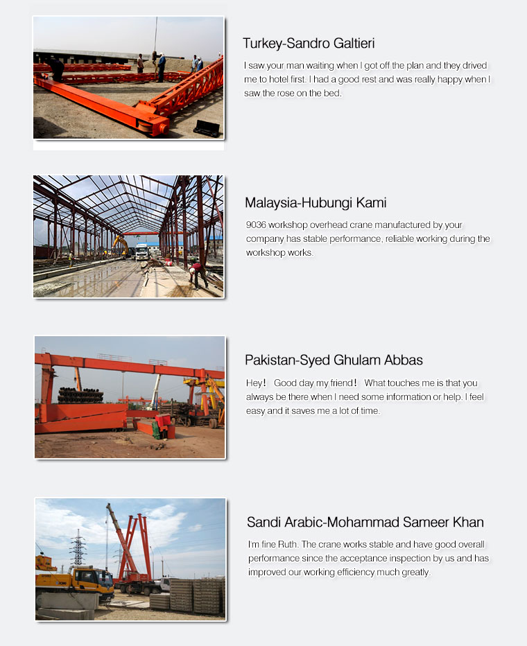 NUCLEON design wireless control overhead crane with rail system