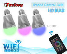 Touch Screen remote control rechargeable bulb