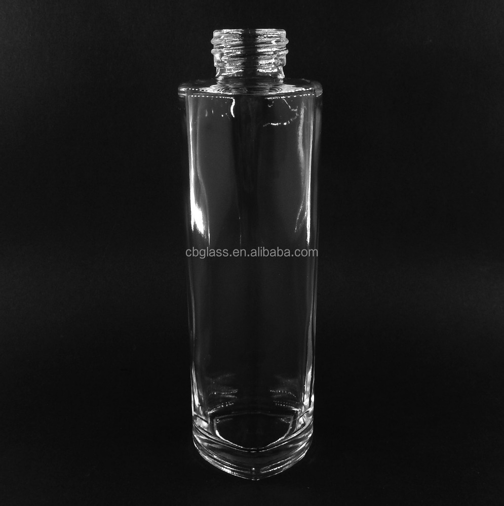 40ml triangle shaped bottom clear glass bottle for parfum with screw neck