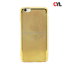 Electroplate soft TPU mobile phone case for iphone 6 plus