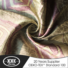 XXC new design polyester jacquard ready made african curtains