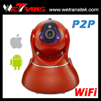2015 New Product Day & Night TF Card Onvif Wireless IP Pan Tilt Camera Robot