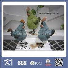 2015 China garden decoration ceramic chicken
