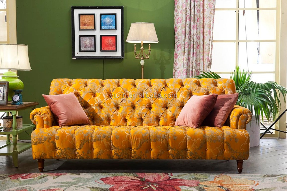 American French Style Classical Sofa Set For Living Room Royal Furniture Bu