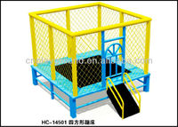 2016 EXCITING &FUNNY COMMERCIAL OUTDOOR GYMNASTIC SQUARE TRAMPOLINE FOR SALE trambuline trampoline (HC-14501)