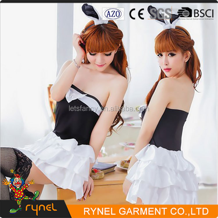 PGWC2290 2016 New Design High Quality Sexy Hallowen Hot Bunny Party Sexy Girl Costumes