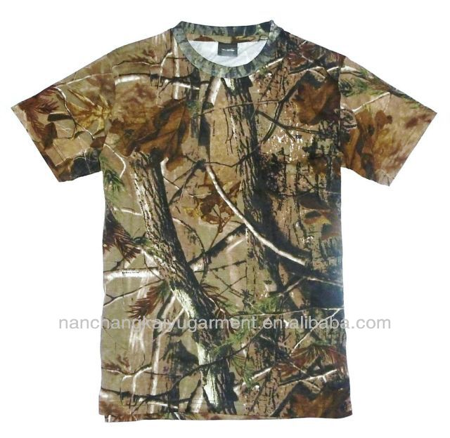 HUNTERS T-SHIRT MENS OAK WOODLAND CAMO TEE SHOOTING TOP