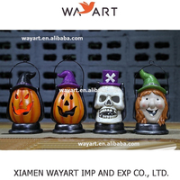 wholesale high quality Resin Hanging Halloween Pumpkin light decoration Halloween Decoration