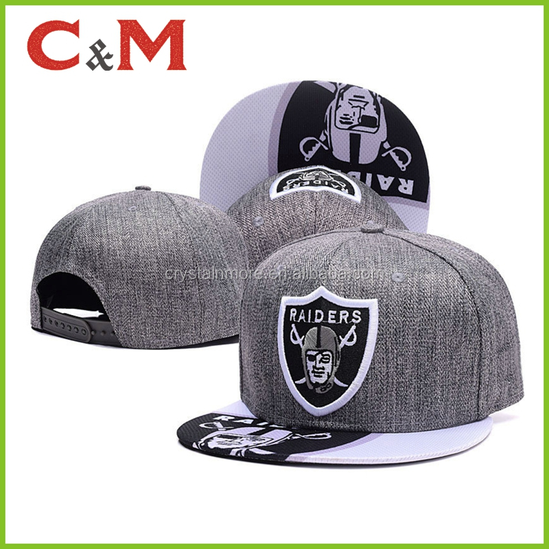 Raiders Football Fan 3D embroidered wholesale hats snapback cap