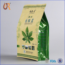 Heat seal flat bottom empty tea bag with gravure printing