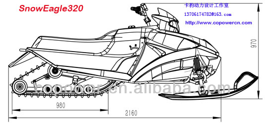 New 320CC chinese snowmobile (Direct factory)