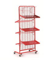 Shopping Mall Display Wire Rack Snack Display Rack For Retail Store