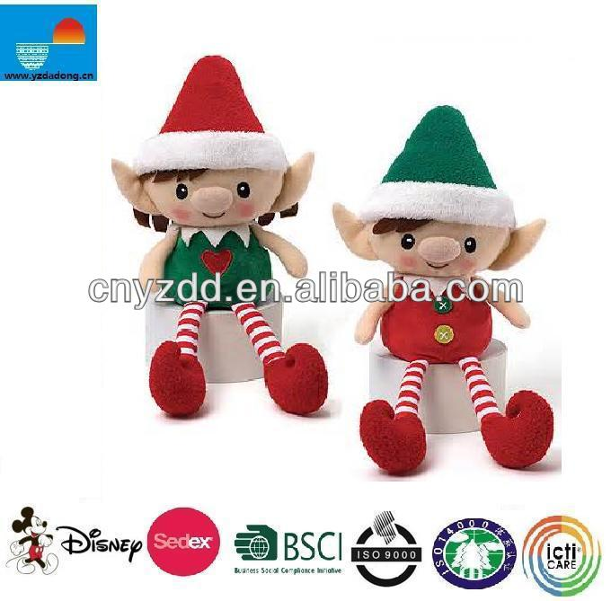 free sample 2015 new design plush elf doll toys/christmas plush elf/cute and cheap plush boy and girl elf toy