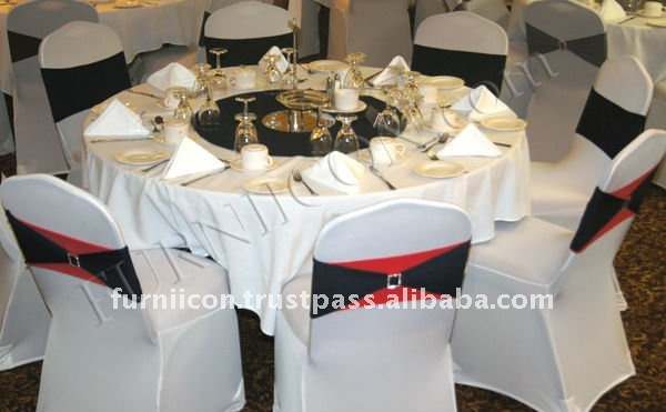 Spandex Chair Covers with bands