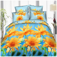 microfiber pigment print bedsheet fabric with good color fastness