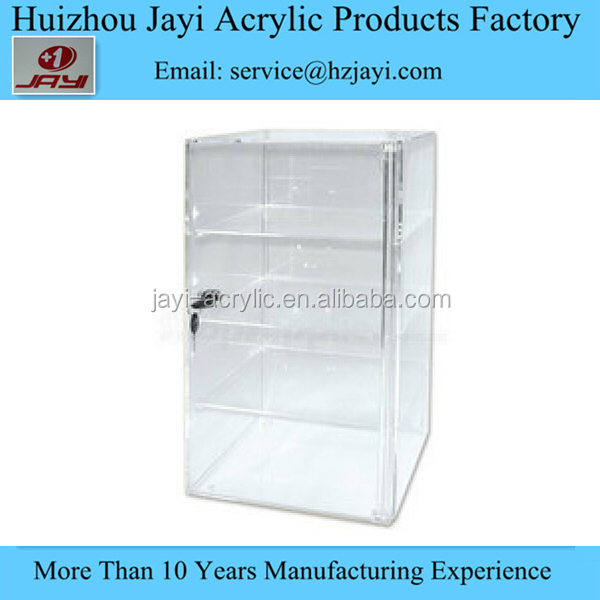 24 Tips crystal clear Acrylic lucite plastic nail polish display case with lock