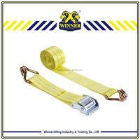 Durable crane lifting belt and cargo lashing strap