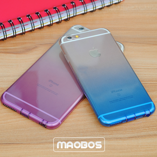Gradient color changing mobile phone case for iphone 6 6s plus